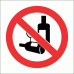 PV22 - No Alcohol Safety Sign