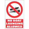PR7E - No Boat Launching Explanatory Sign