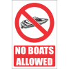 PR8E - No Boats Explanatory Sign