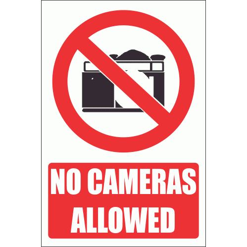 PV21E - No Cameras Explanatory Safety Sign