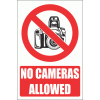 PV21EN - No Cameras Explanatory Safety Sign