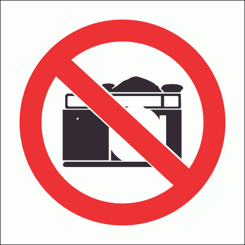 PV21 - No Cameras Safety Sign