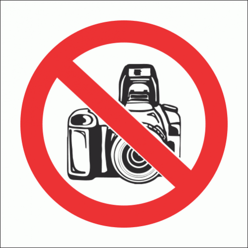 PV21N - No Cameras Safety Sign