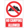 PR31E - No Camping Explanatory Sign