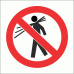PV8 - No Carrying Safety Sign