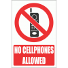 PV27E - No Cellphones Explanatory Safety Sign