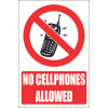 PV27EN - No Cellphones Explanatory Safety Sign