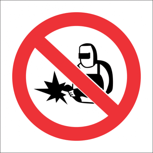 PR50 - No Cutting Or Welding Sign