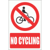 PV7E - No Cycling Explanatory Safety Sign