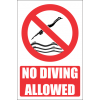 PR1E - No Diving Explanatory Sign