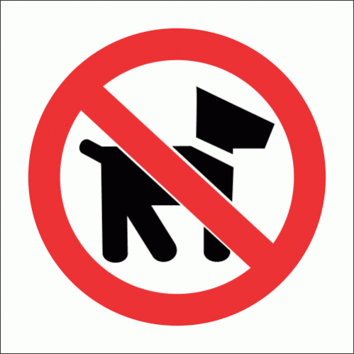PV20 - No Dogs Allowed Safety Sign