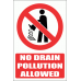 PV28E - No Drain Pollution Explanatory Safety Sign