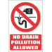 PV28EN - No Drain Pollution Explanatory Safety Sign