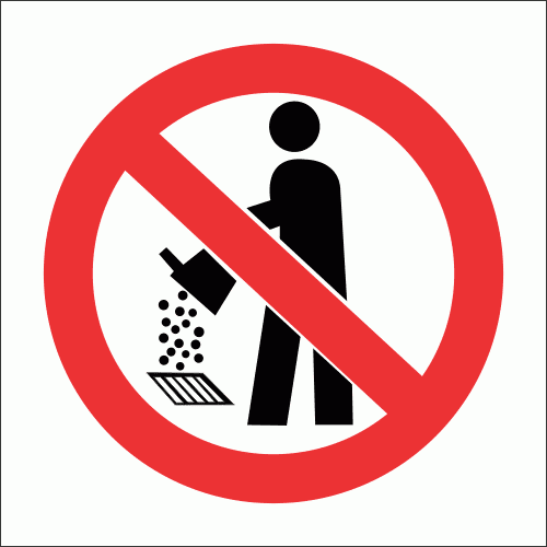 PV28 - No Drain Pollution Safety Sign