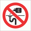 PV28N - No Drain Pollution Safety Sign