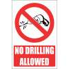 PV32E - No Drilling Explanatory Safety Sign