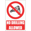 PV32EN - No Drilling Explanatory Safety Sign