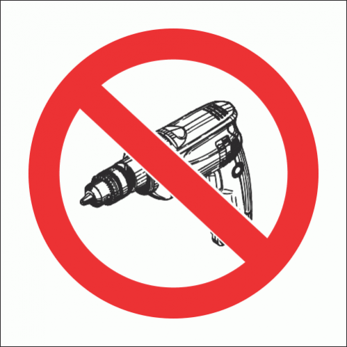 PV32N - No Drilling Safety Sign