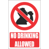 PR3E - No Drinking Explanatory Sign