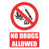 PV34EN - No Drugs Explanatory Safety Sign