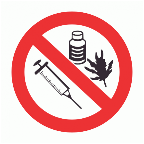 PV34 - No Drugs Safety Sign