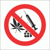 PV34N - No Drugs Safety Sign