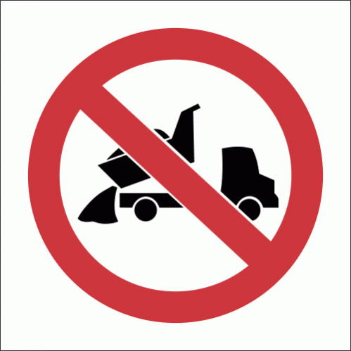 PV13 - No Dumping Safety Sign