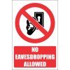 PR37E - No Eavesdropping Explanatory Sign