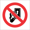 PR37 - No Eavesdropping Sign