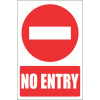 PV6E - No Entry Explanatory Safety Sign