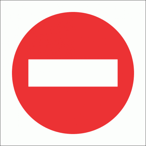 PV6 - No Entry Safety Sign