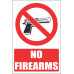 PV19EN - No Firearms Explanatory Safety Sign