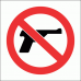 PV19 - No Firearms Safety Sign