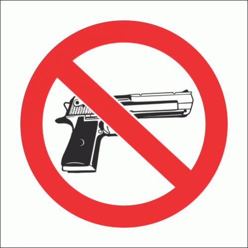 PV19N - No Firearms Safety Sign