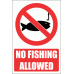 PV25E - No Fishing Safety Sign