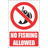 PV25EN - No Fishing Safety Sign