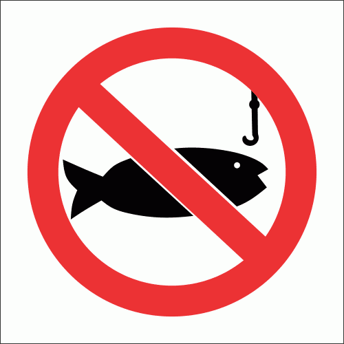 PV25 - No Fishing Safety Sign