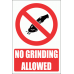 PV33E - No Grinding Explanatory Safety Sign