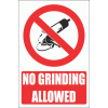 PV33EN - No Grinding Explanatory Safety Sign