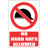 PV38E - No Hard Hat Explanatory Safety Signs