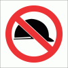 PV38 - No Hard Hat Safety Sign
