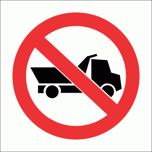 PV15 - No Heavy Vehicles Safety Sign