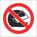 PV18 - No Helmets Safety Sign
