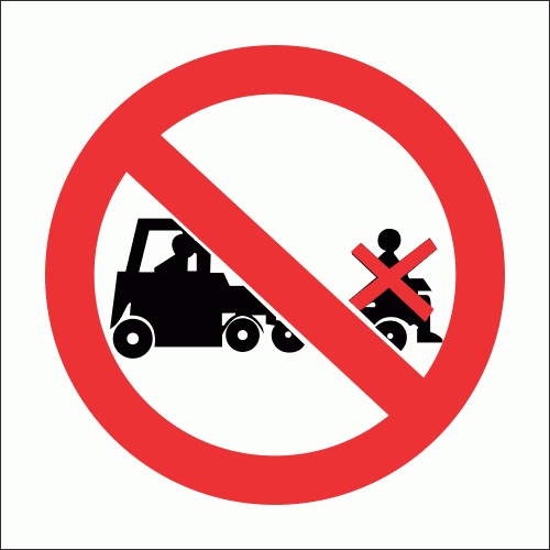 PV30 - No Lifting On Trolleys Safety Sign