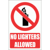 PV26E - No Lighters Explanatory Safety Sign