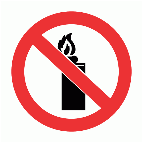 PV26 - No Lighters Safety Sign