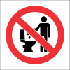PR35 - No Littering In Toilets Sign