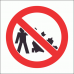 PV23 - No Littering Safety Sign