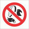 PV12 - No Loose Clothing Safety Sign