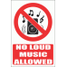 PV36EN - No Loud Music Explanatory Safety Sign